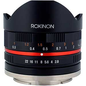 Rokinon Vintage Lenses for Fuji | 8mm | F2.8 | Fisheye II (Black)