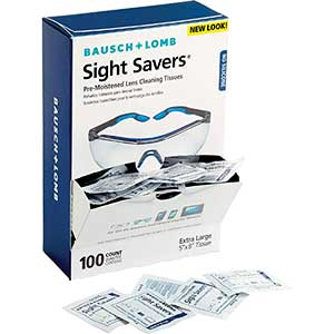 Bauch & Lomb Lens Cleaning Wipes | 100 Wipes Pack