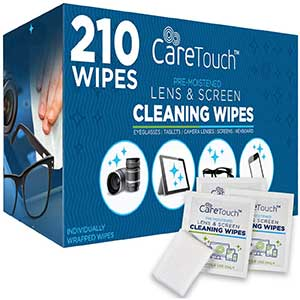 Care Touch Lens Cleaning Wipes | Streak-Free