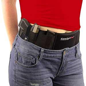 ComfortTac Concealed Carry Holster for Glock 17 | Elastic Webbing